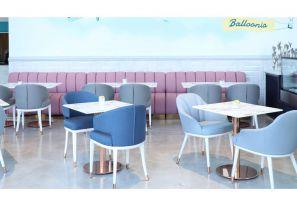 صندلی های زیبای رستورانی گروه نظری در غرفه ی مجازی مبلمان