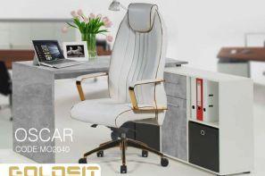 صندلی مدیریتی رویال سفید رنگ بسیار شیک در نمایشگاه مجازی مبلمان اداری