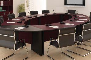 میز کنفرانس شرکت طرح و فرم در نمایشگاه مجازی مبلمان و تجهیزات اداری