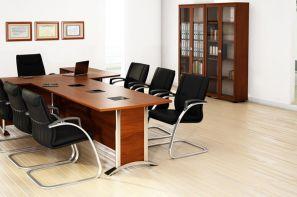 میز و صندلی و کتابخانه ی شرکت طرح و فرم در غرفه ی مجازی نمایشگاه تجهیزات اداری