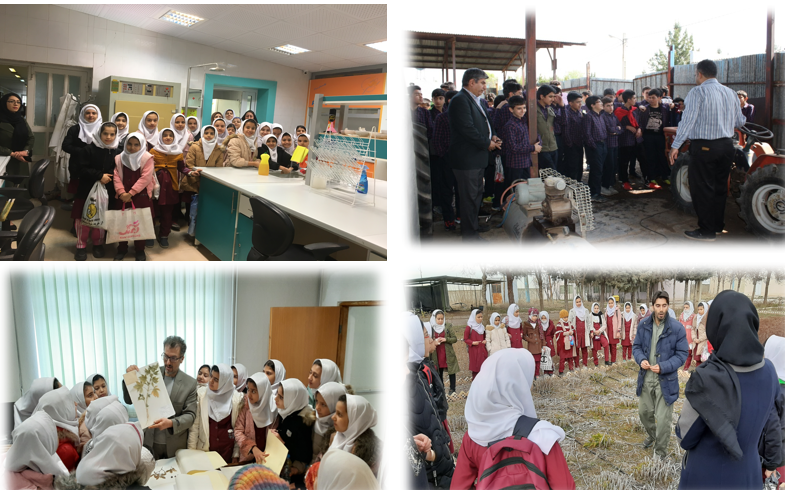 بازدید دانش آموزی مرکز تحقیقات و آموزش کشاورزی و منابع طبیعی استان قزوین