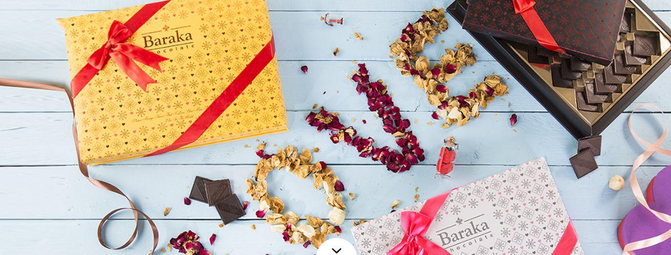 شکلات جعبه ای مربعی شکلات باراکا