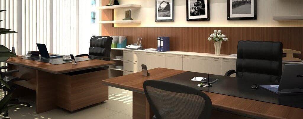 میز اداری غرفه مجازی در نمایشگاه مجازی مبلمان شرکت طرح و فرم