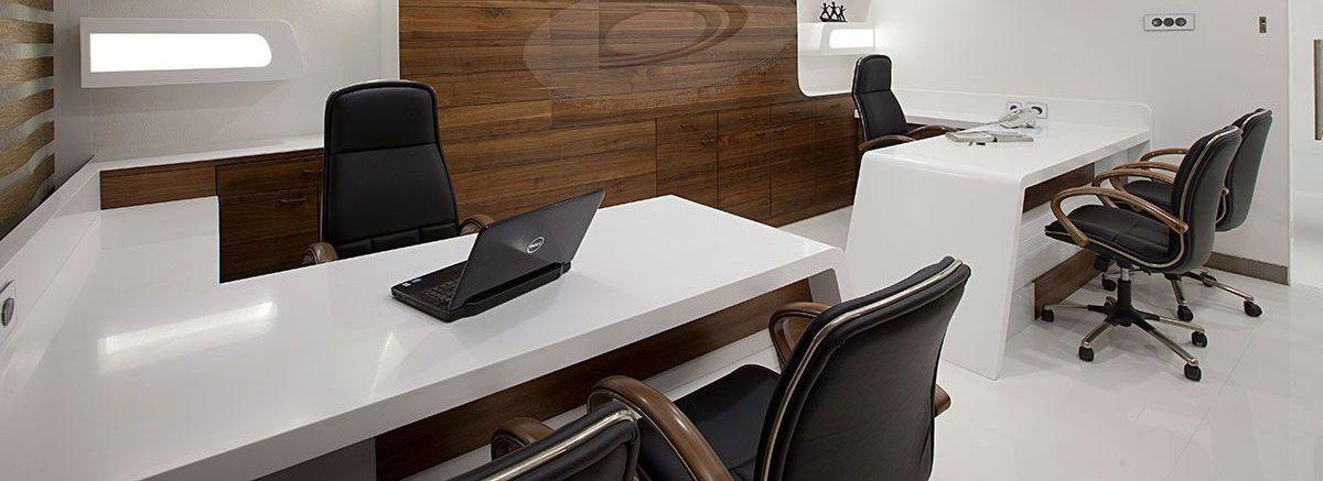 مبل و میز اداری شرکت طرح و فرم درغرفه مجازی شرکت طرح و فرم