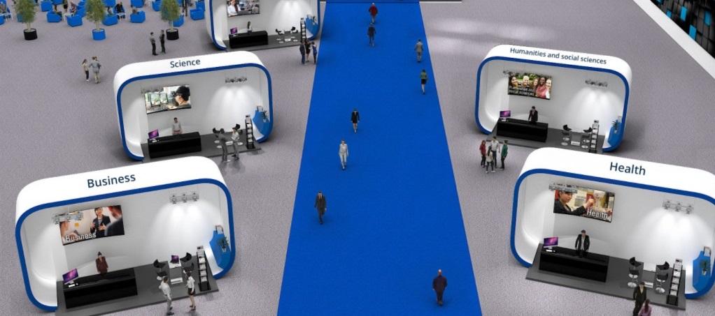 در بازدید مجازی نمایشگاه بازدید کننده می تواند موضوعات مورد علاقه خود را تفکیک نماید.